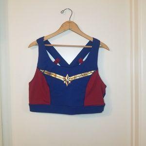 Torrid Captain Marvel Sports bra